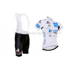 پیراهن و شورت دوچرخه سواری تیم تور سفید