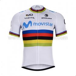 پیراهن و شورت دوچرخه سواری قهرمان جهان Movistar