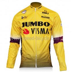 کاپشن زمستانی دوچرخه سواری تیم لوتو ویزما زرد