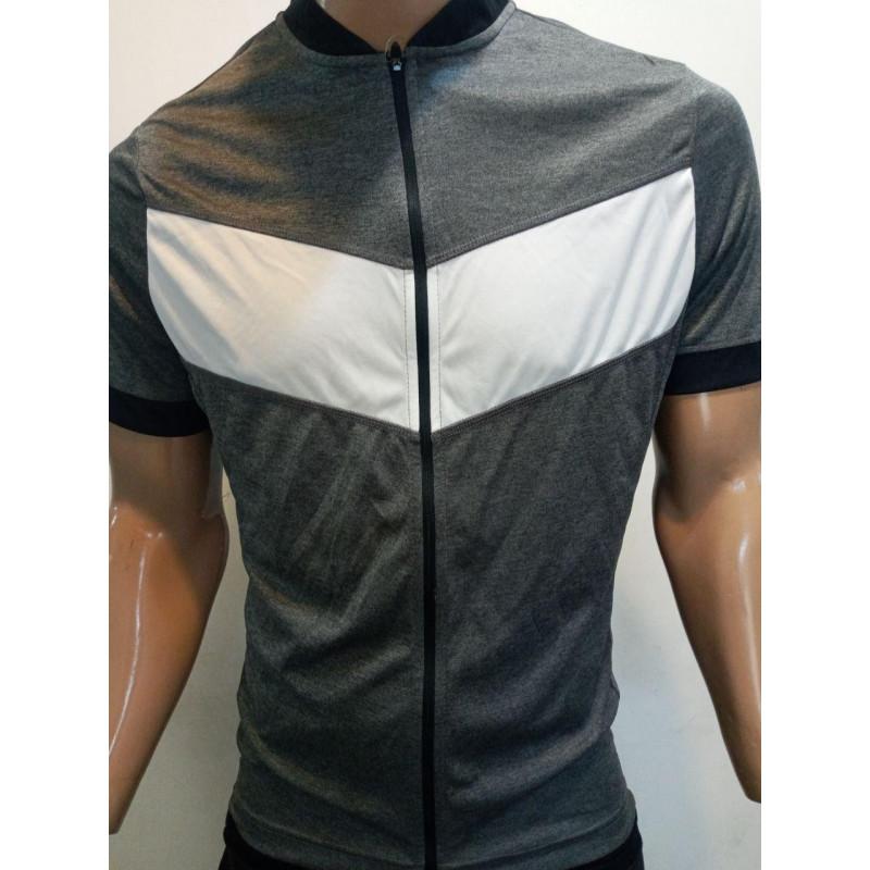 پیراهن آستین کوتاه دوچرخه سواری کرین تمام زیپ
