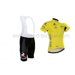 پیراهن و شورت دوچرخه سواری تور فرانسه زرد